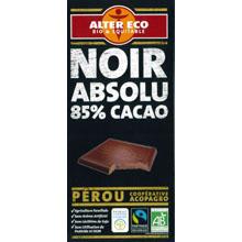 アルテル エコ オーガニック フェアトレードチョコレート ノワール アブソリュ