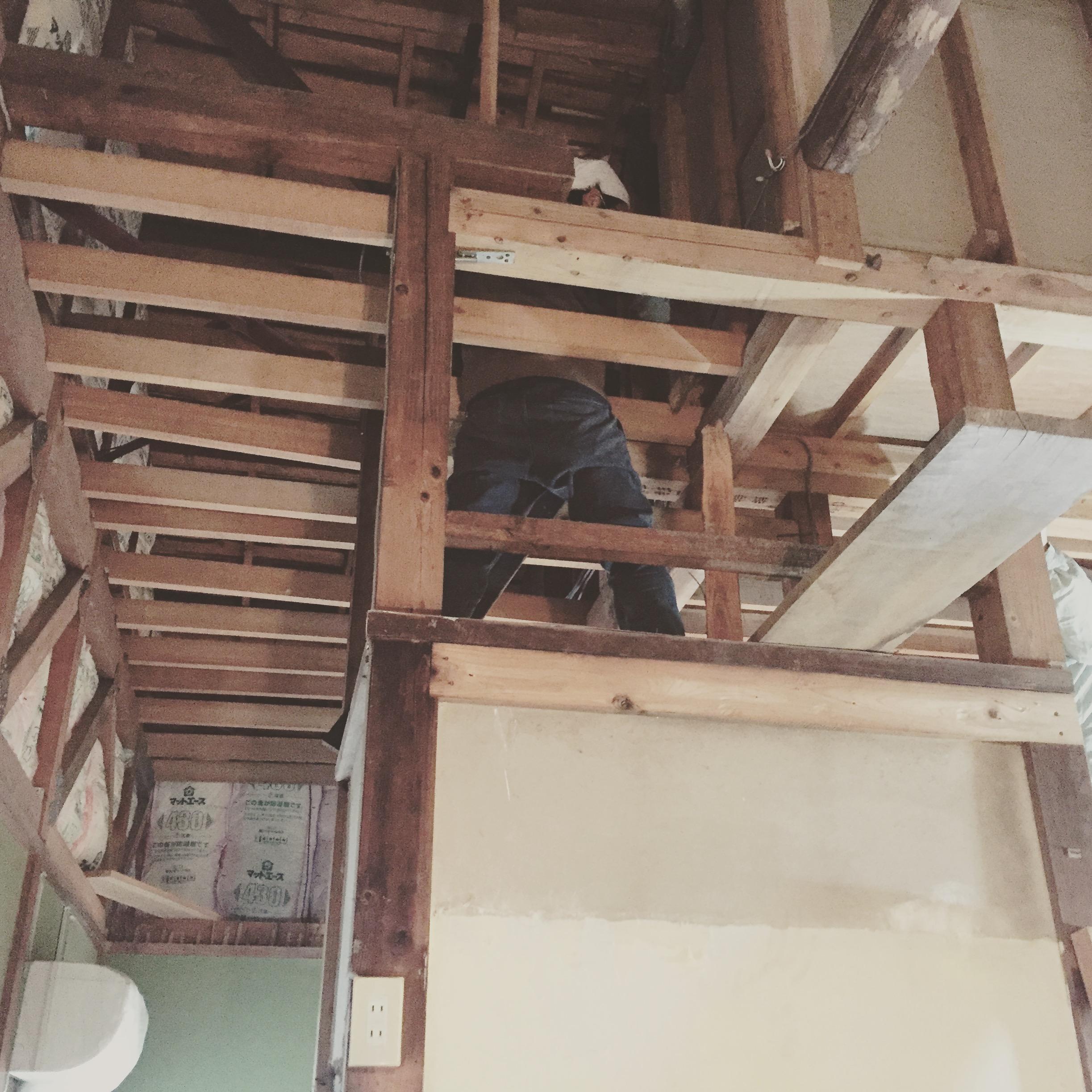 北本市にて家のリノベーション合宿に参加してきました♪(2日目〜)