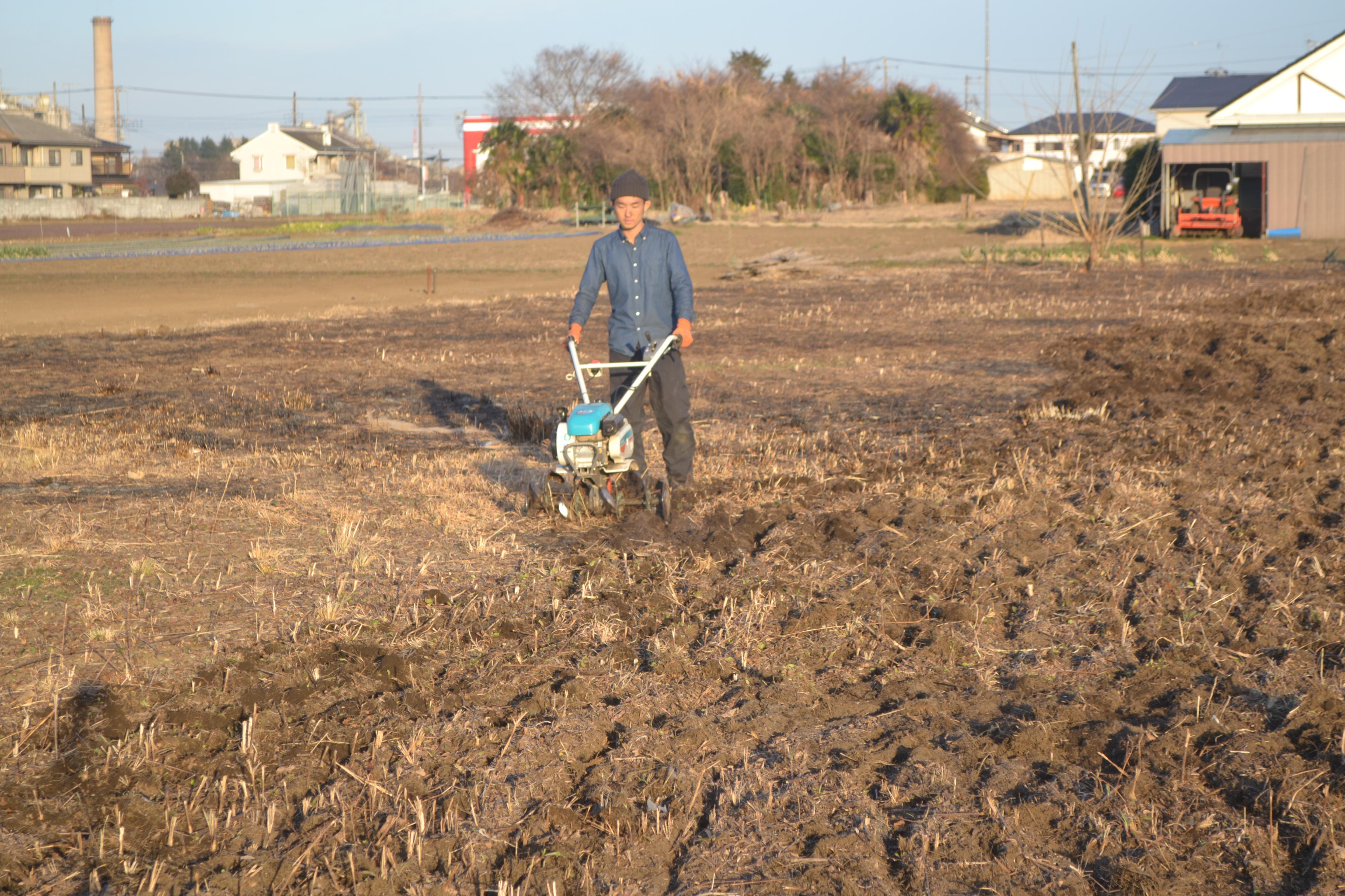 畑の開墾 その2(野焼き・耕運)