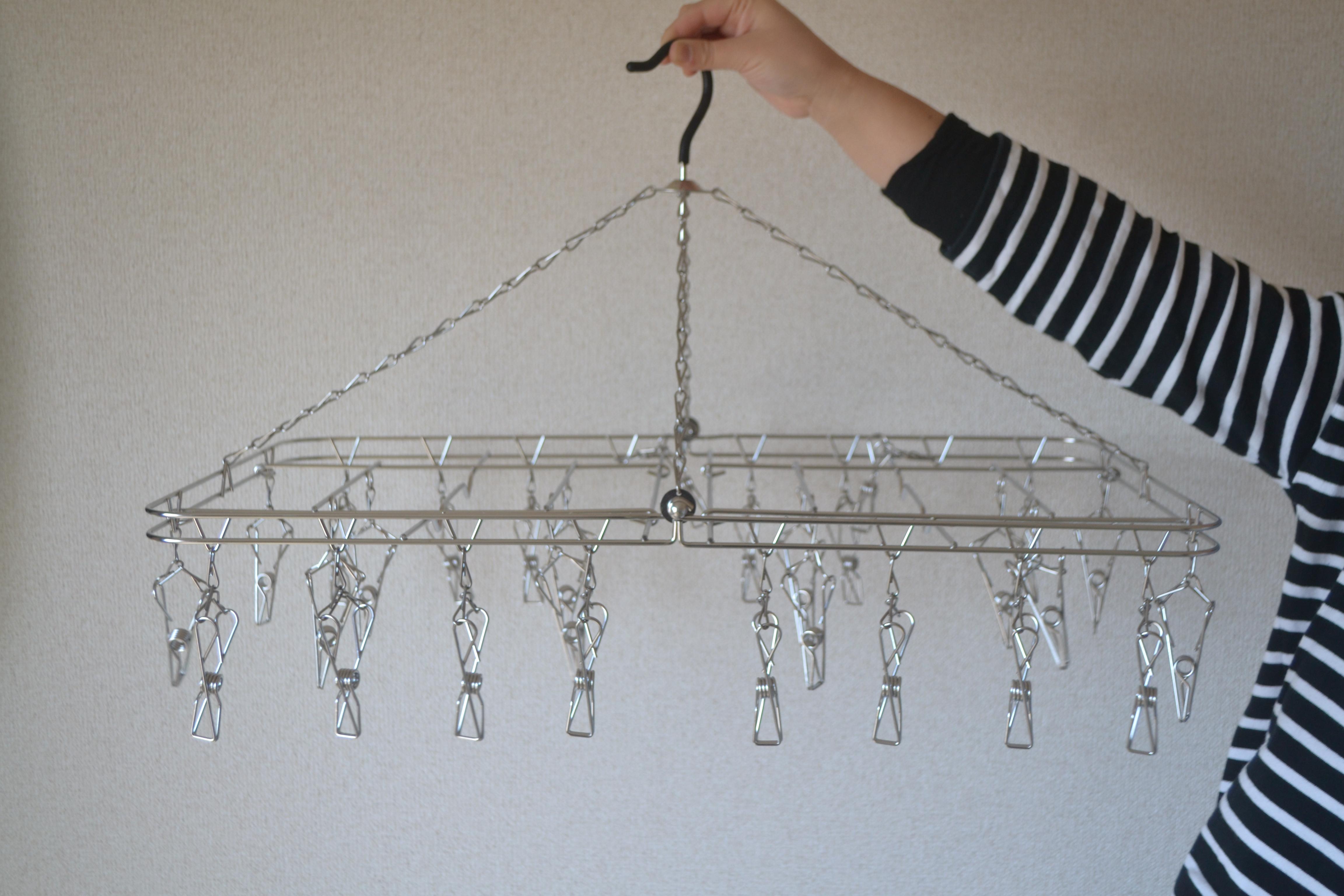 【我が家で愛用】いいもの長く使うなら、大木製作所の絡みにくいステンレス洗濯ハンガーがおすすめ!