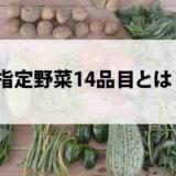 指定野菜14品目